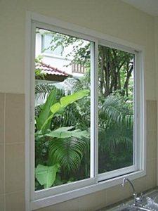 แบบหน้าต่างอลูมิเนียม หน้าต่างบานเลื่อนสวน