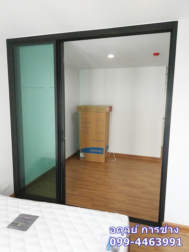 กั้นห้องกระจก คอนโด