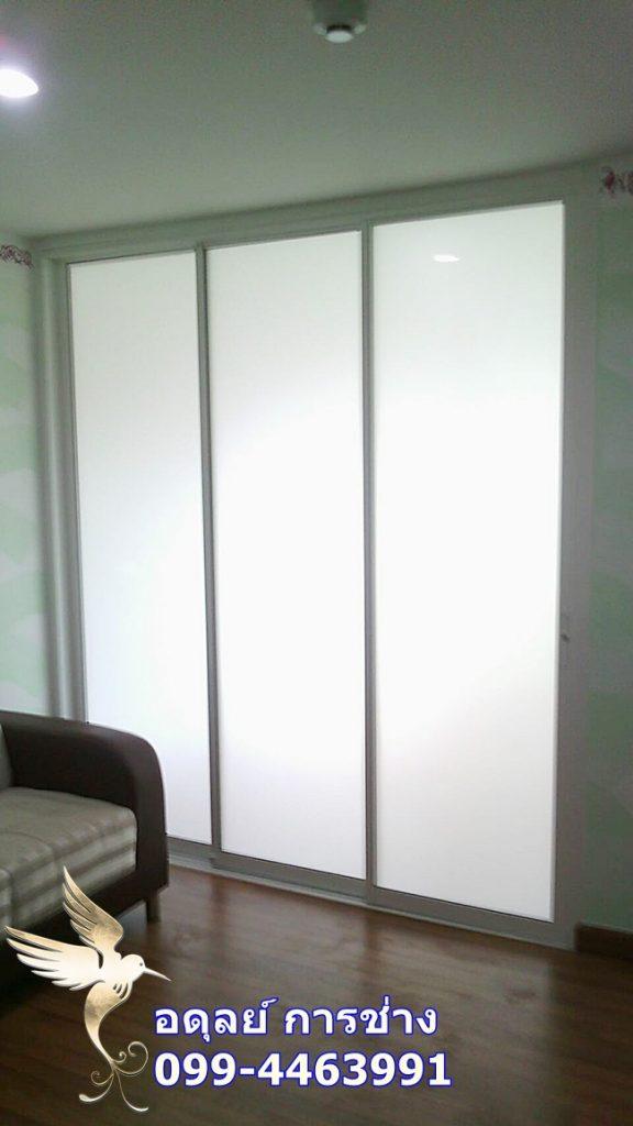กั้นห้องกระจกติดแอร์